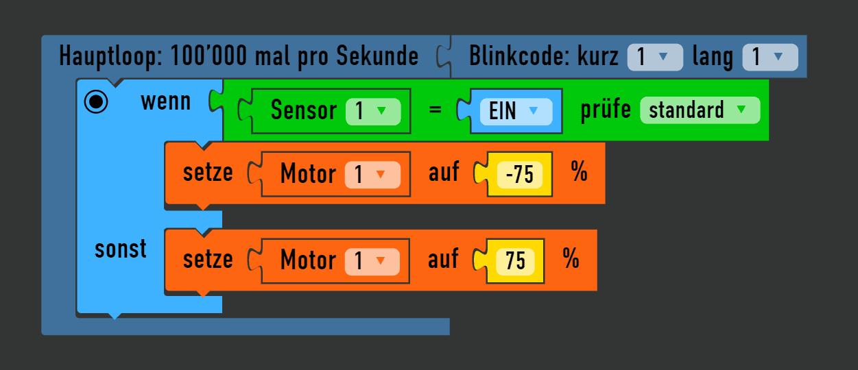 Arduino Motor mit Sensor steuern