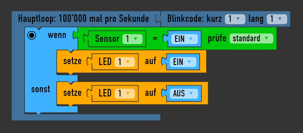 Arduino Sensor abfragen mit wenn-sonst 1
